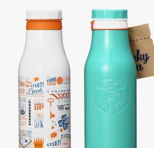 ステンレスボトルロゴラッキー(473ml)オレンジ/ブルー