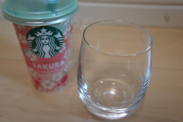 さくらキャラメリーミルクWITHミックスベリー グラス コップ